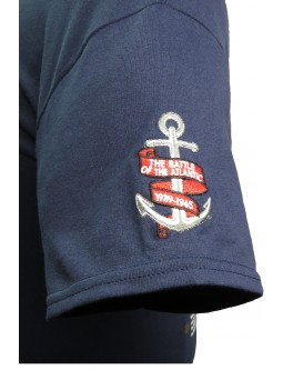 Battle of the Atlantic Embroidered Cotton T-Shirt Commemorating WW2 Battles
