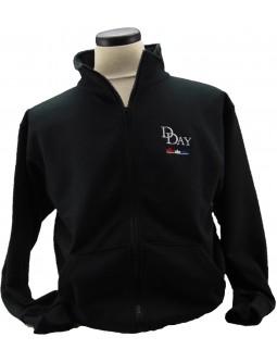 Sweatshirt Jackets: D-Day Cadet Collar Full-Zippered Jacket!