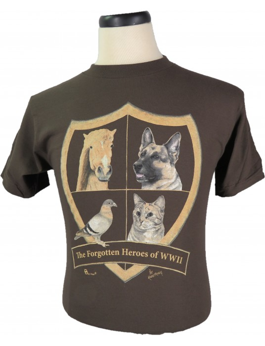 T-Shirt The Forgotten Heroes: WWII Heroic Animals Of T-Shirts