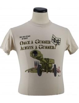 Army T-Shirt Once A Gunner: 105 Howitzer Gunners WW2 Design