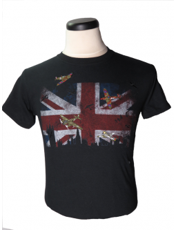 Battle Of Britain WW2 Military Shirt W/ Embroidered Planes