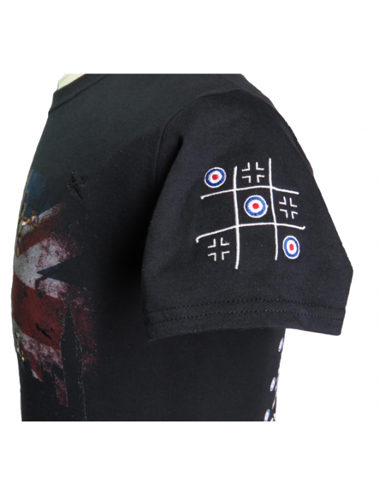 Battle Of Britain WW2 Military Shirt W/ Embroidered Planes!