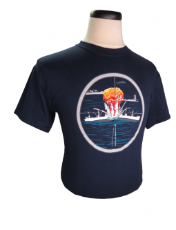 T-Shirt, Cotton, Embroidered And Commemorating The Battle Of The Atlantic