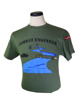 Embroidered Shirt: Shop For A Combat Engineer Cotton T-Shirt!
