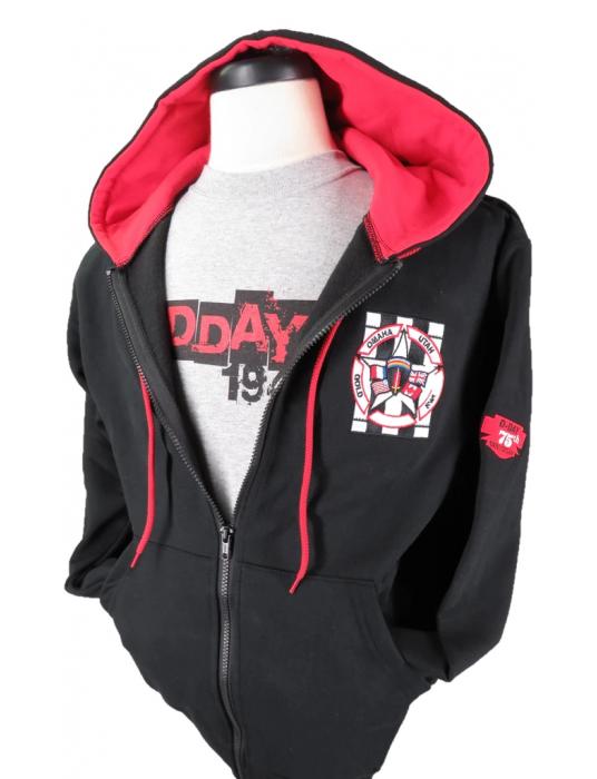 Hoodie Sweatshirts Full-Zip With 2-Colour Hood Made In Canada