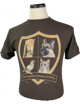 "T-Shirt ""The Forgotten Heroes Of WWII"". Unisex Cut T-Shirts To Commemorate Heroic Animals Of WW2"