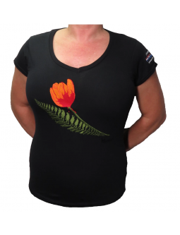 Embroidered Shirt: Ladies T, V-neck, Liberation Of Holland