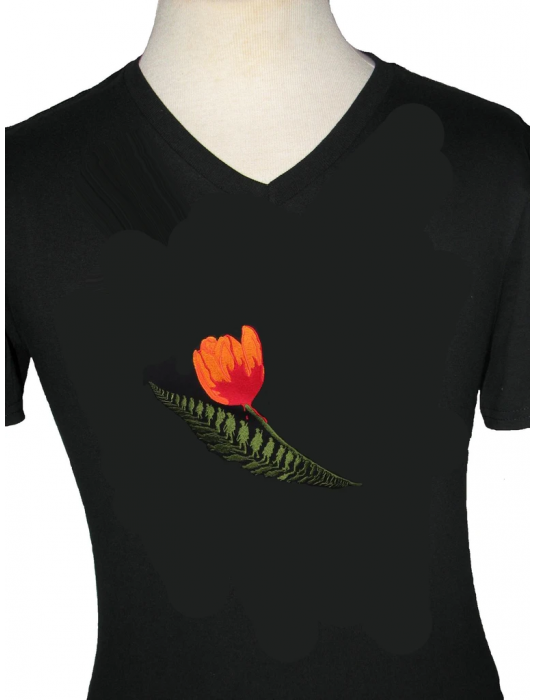 Embroidered Shirt: Unisex T, V-neck, Liberation Of Holland