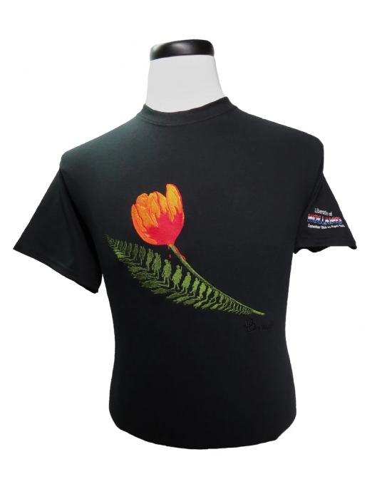 Embroidered Shirt: Liberation Of Holland Unisex Black Shirts!