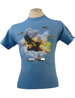 Commemorative T-Shirt With Embroidered Pearl Harbor Memorial