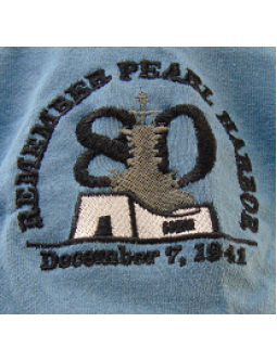 Commemorative T-Shirt W/ Embroidered Pearl Harbor Memorial