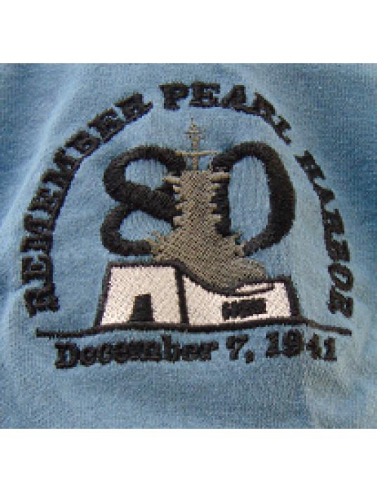 Commemorative T-Shirt W/ Embroidered Pearl Harbor Memorial