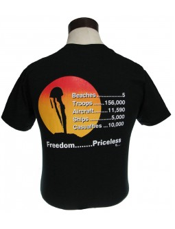 "T-Shirt: D-Day Invasion T-Shirts, Cost = ""Priceless"""