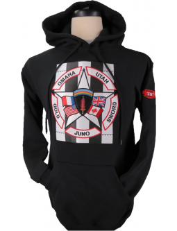 Hoodie Sweatshirt D Day Pullovers In Black: Made In Canada
