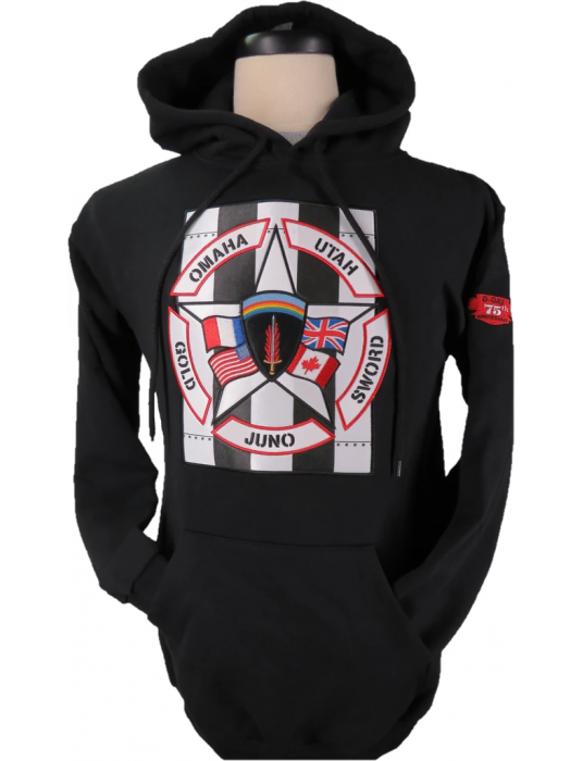 Military Hoodie W/ Pullover Hood: D Day Commemorative Hoodies