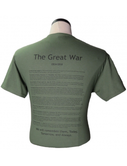 T-Shirt The Great War: Shop For Canadian WW1 Cotton T-shirts!