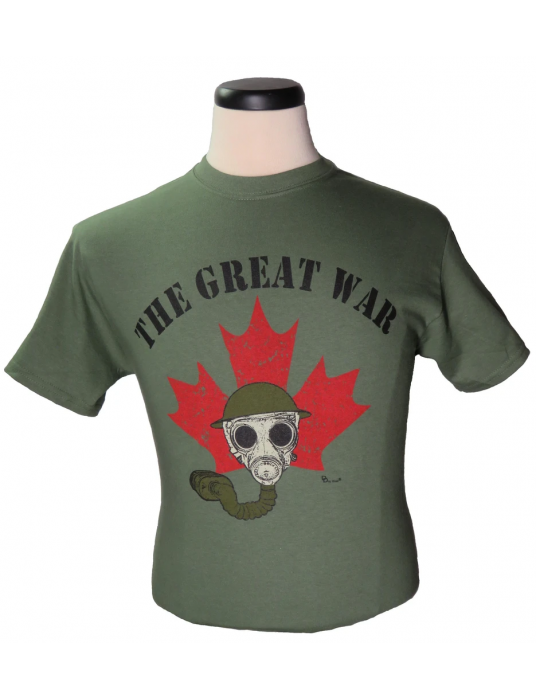 """T-Shirt """"The Great War"""": Shop For T-shirts To Commemorate Canadian Participation In WW1"""