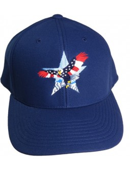 Embroidered THIS FLAG FLIES FREE MADE IN AMERICA BALL ADJUSTABLE CAP