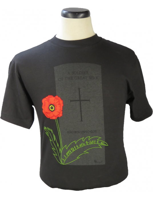 The Grave Of The Unknown Soldier Shirt W/ Poppy Embroidery!