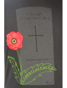 T-Shirts: Ladies Short Sleeve T-shirt Embroidered - Life Of An Unknown Soldier